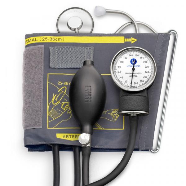 Tensiometru mecanic Little Doctor LD 71 profesional, stetoscop inclus, manometru din metal, husa de transport 0