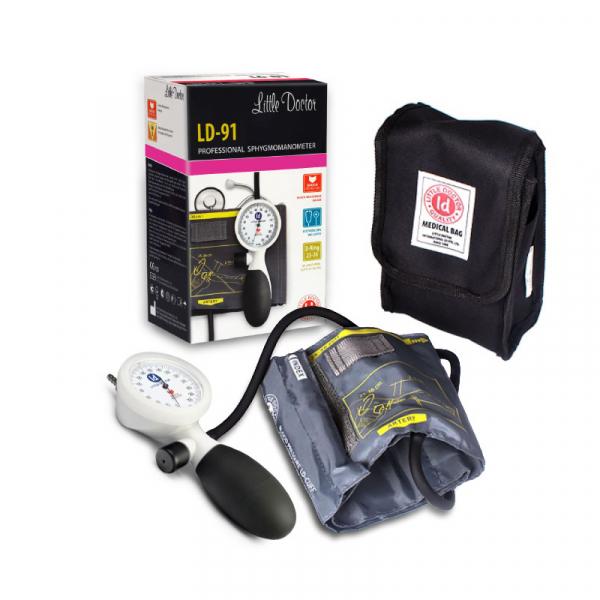 Tensiometru mecanic de brat Little Doctor LD 91, profesional, rezistent la socuri, stetoscop inclus 2