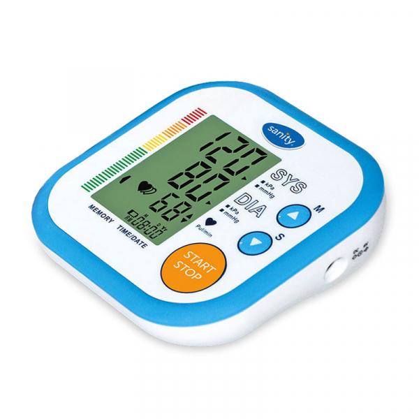 Tensiometru electronic de brat Sanity Simple, 60 seturi de memorie, tehnologie FDS, produs validat clinic, Alb/Albastru 0