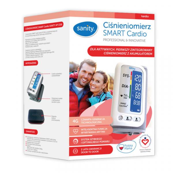 Tensiometru electronic de brat Sanity Smart Cardio, 120 memorii, Display LCD, sistolic - diastolic, Alb 2