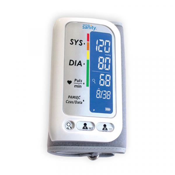 Tensiometru electronic de brat Sanity Smart Cardio, 120 memorii, Display LCD, sistolic - diastolic, Alb 0