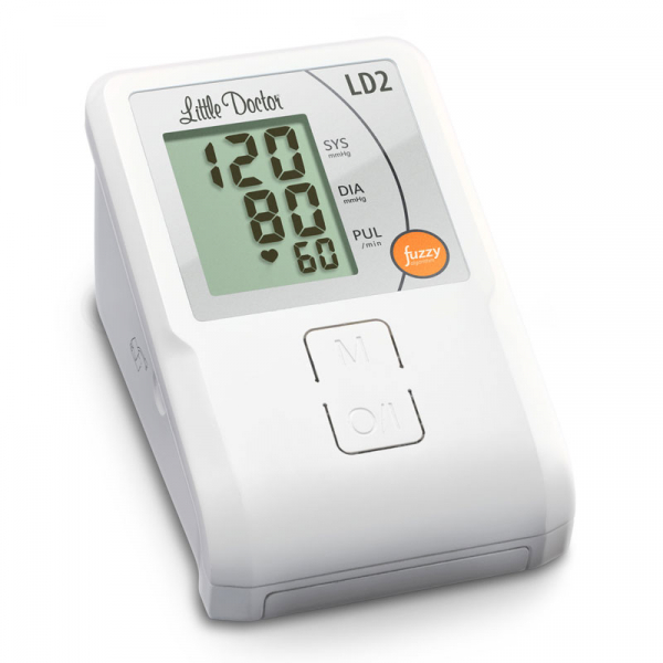 Tensiometru de brat Little Doctor LD2, semiautomat, afisaj LCD, memorare 90 de valori, alb 1