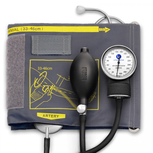 Tensiometru mecanic Little Doctor LD 60, stetoscop atasat, manseta 33-46 cm, manometru din metal 0