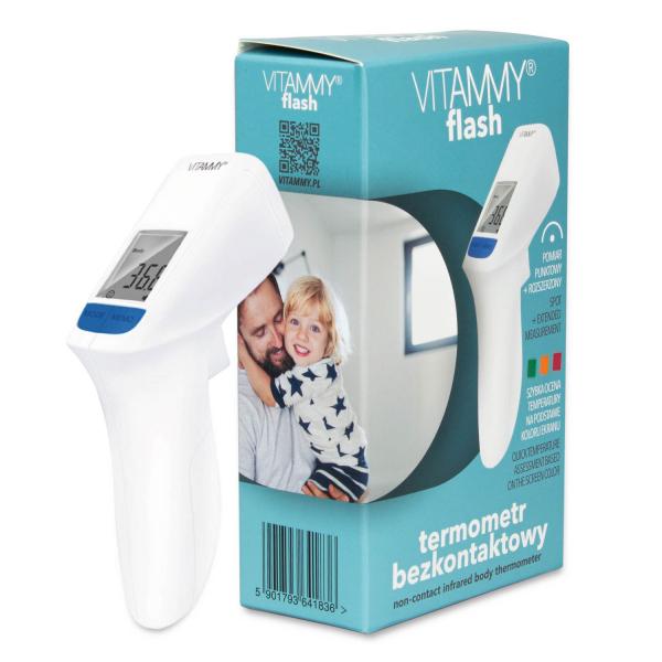 Termometru non-contact Vitammy Flash HTD8816C, tehnologie infrarosu, pentru frunte 0