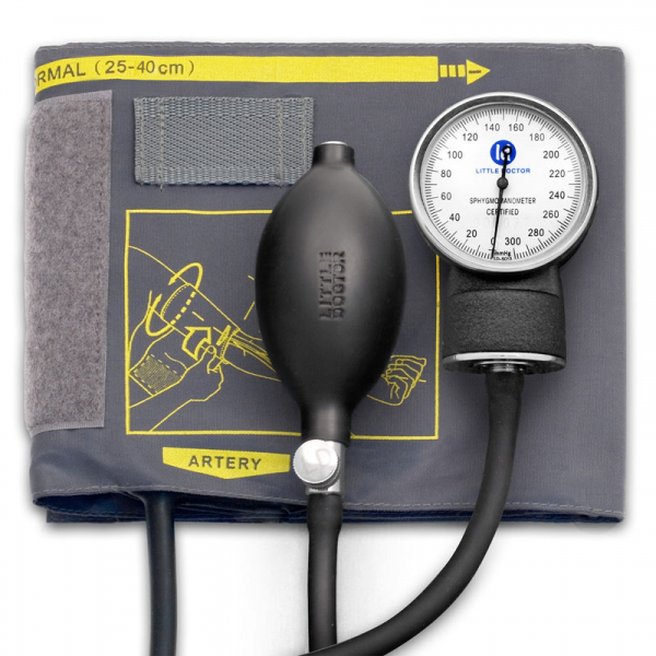 Tensiometru mecanic Little Doctor LD 70NR, profesional, manseta LARGE 25 - 40 cm, fara stetoscop, manometru din metal 0