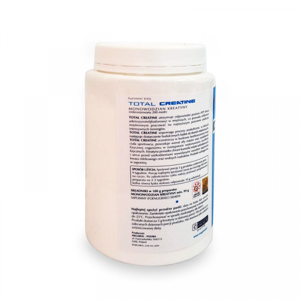Supliment de creatina Megabol TOTAL CREATINE 500 g, creatina micronizata monohidrat 100% pura 1