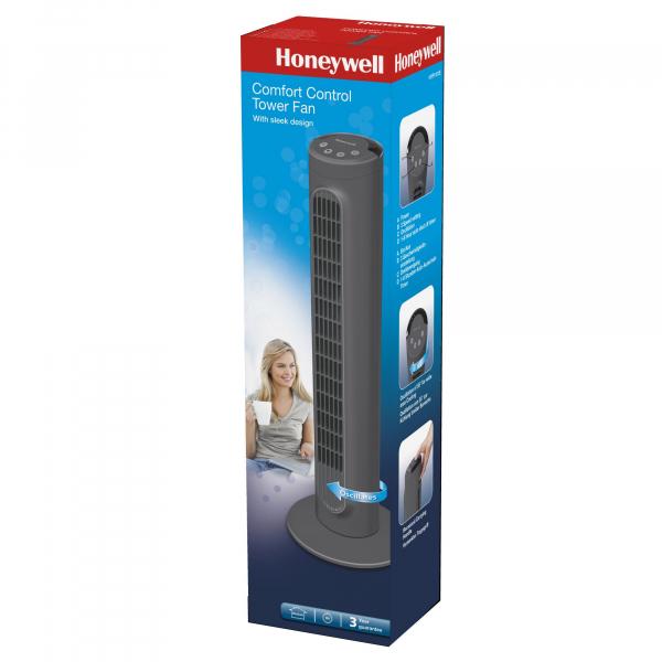Ventilator turn Honeywell HYF1101E, 3 trepte de viteza, 80 cm, panou de control, Gri inchis 2