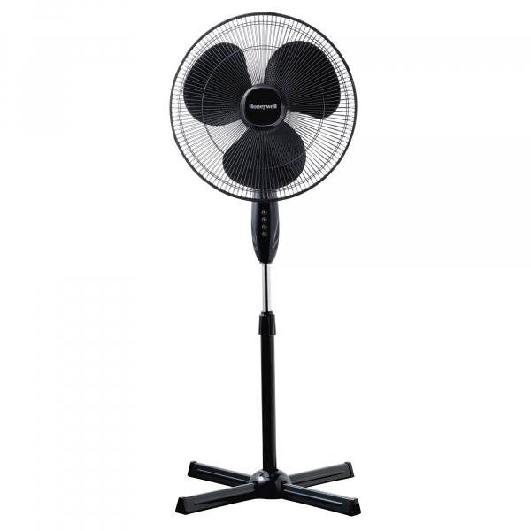 Ventilator cu picior Honeywell HSF1630E, 3 viteze, inaltime reglabila 110 - 122 cm, Negru 1