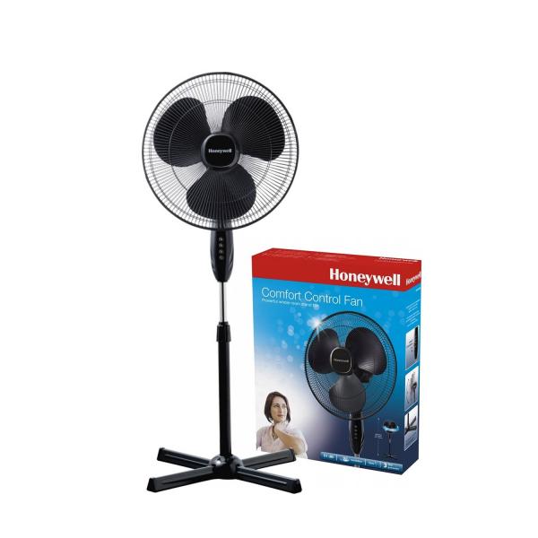Ventilator cu picior Honeywell HSF1630E, 3 viteze, inaltime reglabila 110 - 122 cm, Negru 0