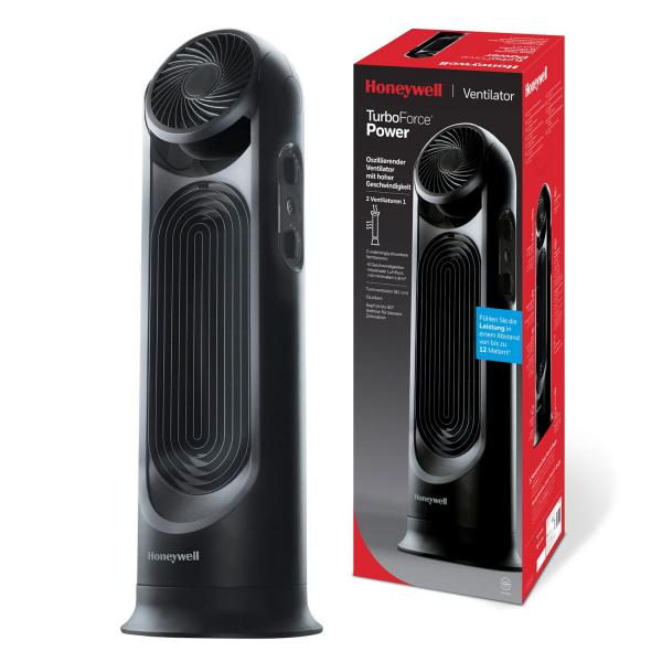 Ventilator dual cu functie circulare aer Honeywell HYF500E4, 2 ventilatoare incorporate a cate 3 viteze fiecare, 80 cm, Negru 0