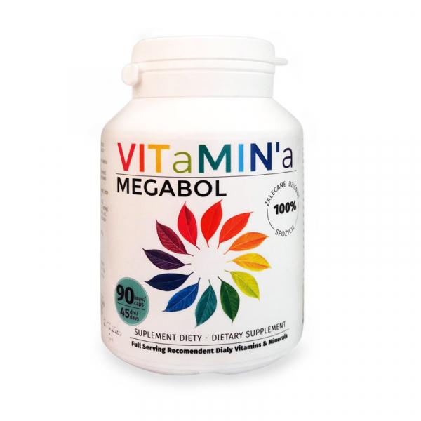 Capsule vitamine Megabol VITaMIN'a, 90 cps 0