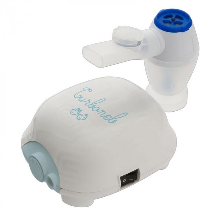 Aparat aerosoli 3A Health Care Turboneb PRO, fabricat in Italia, nebulizator cu compresor, masca copii reglabila, geanta transport, furtun 6 m 2