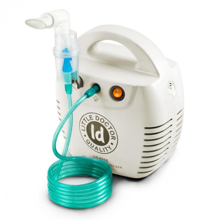 Aparat aerosoli cu compresor Little Doctor LD 211 C, cutie pentru accesorii, 3 dispensere, 3 masti [0]