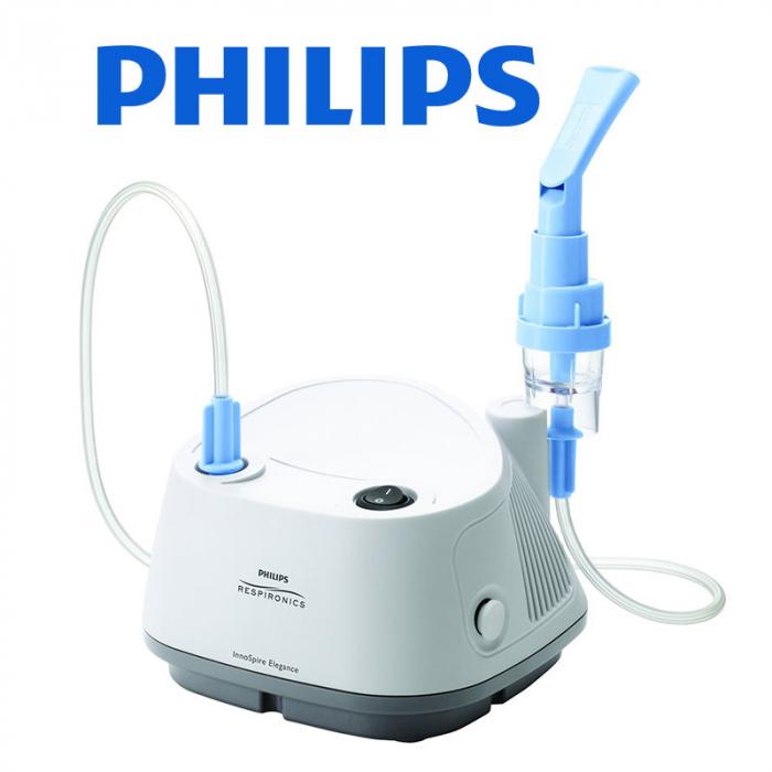 Aparat aerosoli cu compresor Philips Respironics InnoSpire Elegance,  MMAD 2.90 μm, Operare Continua, Sistem Active Venturi 4