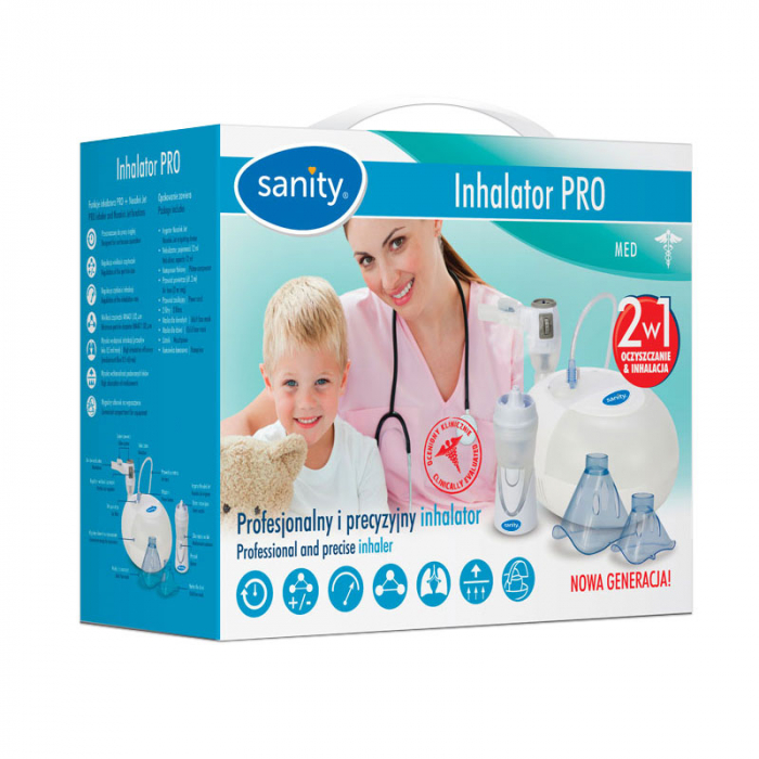 Aparat aerosoli cu compresor Sanity Pro Inhaler si irigator Nosalek Jet, 2 in 1 2