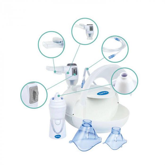 Aparat aerosoli cu compresor Sanity Pro Inhaler [2]