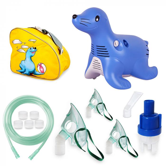 Aparat aerosoli Philips Respironics Sami the Seal resigilat cu accesorii sigilate, gentuta originala 1