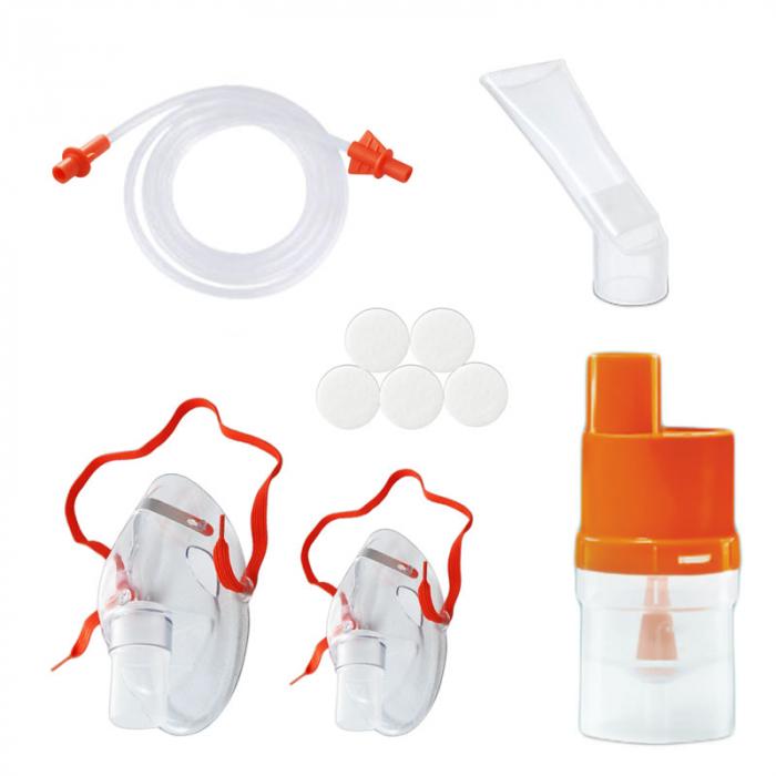 Aparat de aerosoli cu compresor RedLine Healthy Fish, MMAD 2.44 µm, forma jucausa apreciata de copii 4
