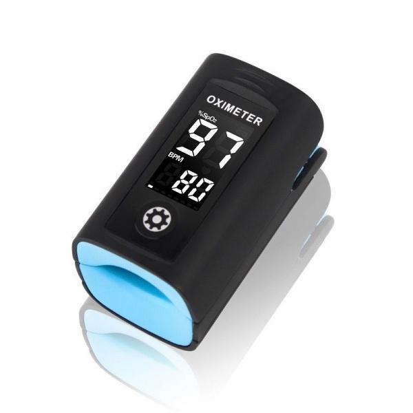 Pulsoximetru Vitammy Creative PC60A, indica nivelul de saturatie a oxigenului, masoara rata pulsului, Negru [0]