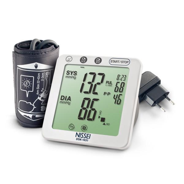 Tensiometru electronic de brat Nissei DSK-1031, memorare 60 de seturi, afisaj LCD, detectie aritmie si body motion 0