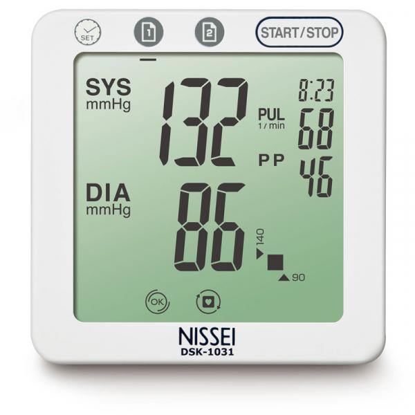 Tensiometru electronic de brat Nissei DSK-1031, memorare 60 de seturi, afisaj LCD, detectie aritmie si body motion 2