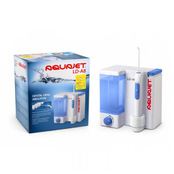 Irigator bucal Little Doctor Aquajet LD A8 pentru adulti, profesional, 1200 impulsuri/min, 4 duze incluse, alb 2