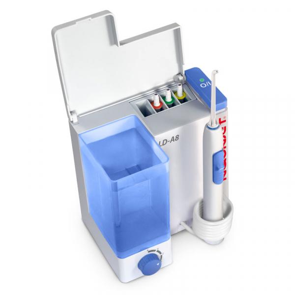 Irigator bucal Little Doctor Aquajet LD A8 pentru adulti, profesional, 1200 impulsuri/min, 4 duze incluse, alb 1