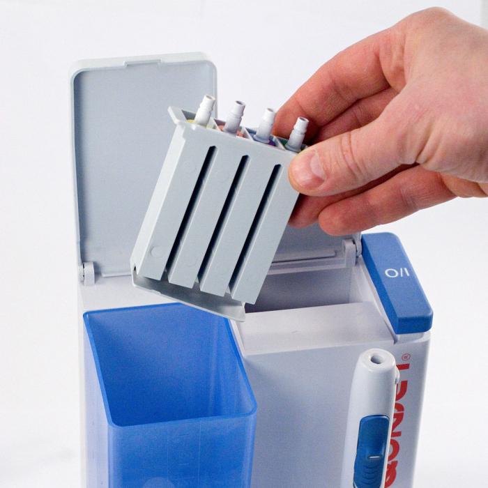 Irigator bucal Little Doctor Aquajet LD A8 pentru adulti, profesional, 1200 impulsuri/min, 4 duze incluse, alb 4