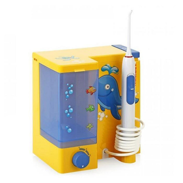Irigator bucal Little Doctor Aquajet LD A8 pentru adulti si copii, profesional, 1200 impulsuri/min, 4 duze incluse, galben 2