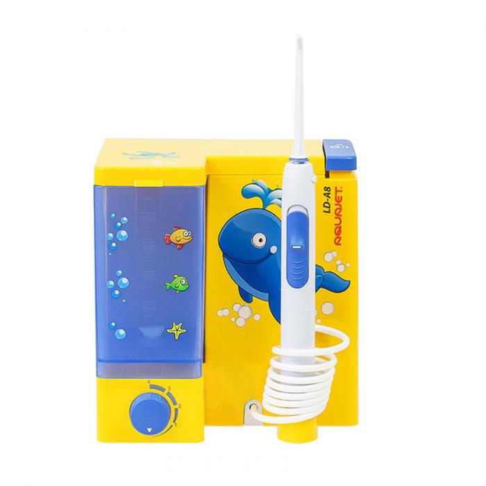Irigator bucal Little Doctor Aquajet LD A8 pentru adulti si copii, profesional, 1200 impulsuri/min, 4 duze incluse, galben 3