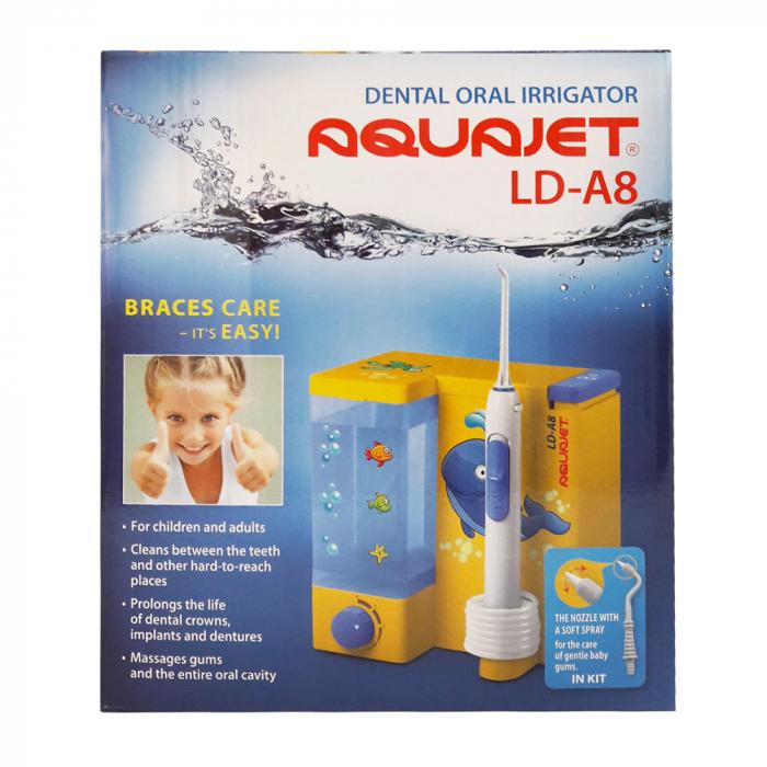 Irigator bucal Little Doctor Aquajet LD A8 pentru adulti si copii, profesional, 1200 impulsuri/min, 4 duze incluse, galben 4