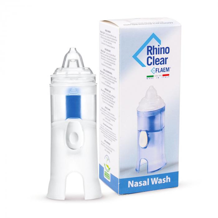Irigator nazal FLAEM Rhino Clear compatibil cu aparatele de aerosoli cu compresor, pentru curatarea cailor nazale 0