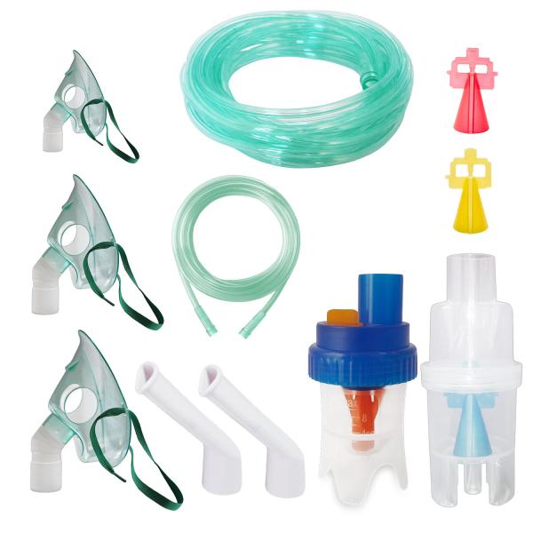 Kit accesorii universale Redline Ultra, pentru aparate aerosoli cu compresor, particule variabile, furtun de 6 si 2 m, masca bebelusi, copii si adulti [0]