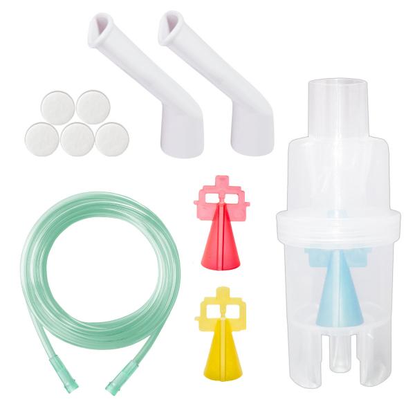 Kit nebulizare Little Doctor basic, 3 dispensere, particule variabile, pentru aparate de aerosoli cu compresor 0