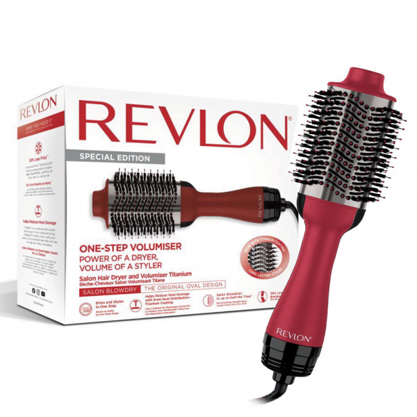Perie electrica fixa REVLON Pro Collection One-Step Volumiser Titanium, RVDR5279UKE, 3 trepte de temperatura 0