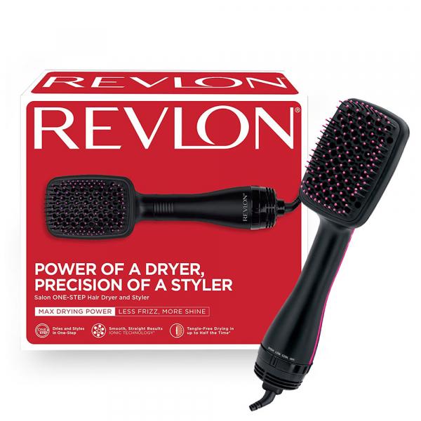 Perie electrica de par REVLON One-Step Hair Dryer & Styler, RVDR5212E2, ionizare, 2 trepte de temperatura 0