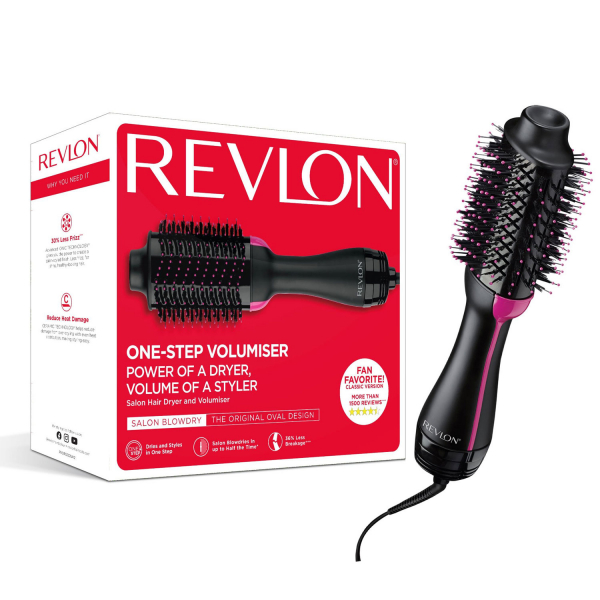 Perie electrica fixa REVLON One-Step Hair Dryer & Volumizer, RVDR5222E2, pentru par mediu si lung 0