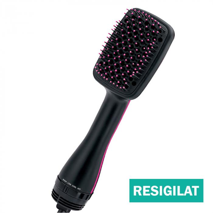 Perie electrica de par REVLON One-Step Hair Dryer & Styler, RVDR5212E2, resigilata, ionizare, 2 trepte de temperatura [0]