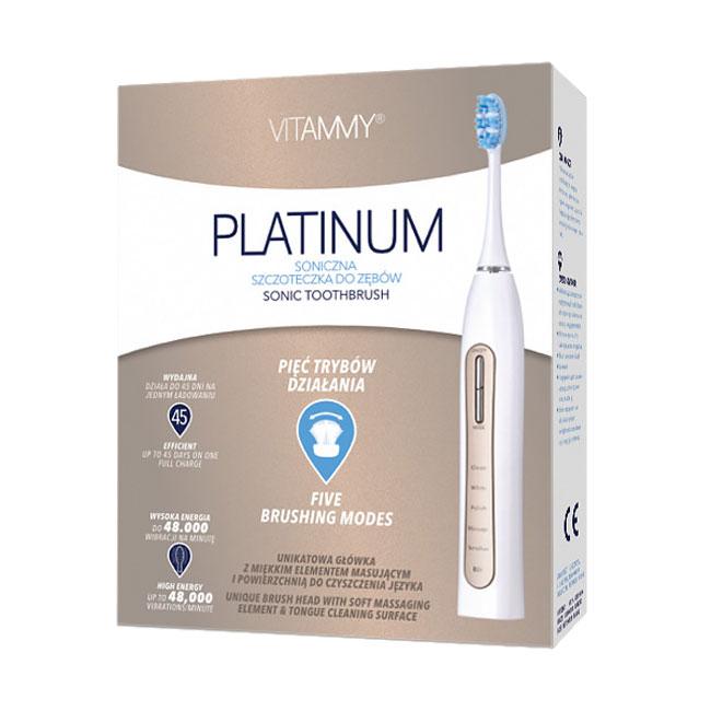 Periuta de dinti electrica VITAMMY Platinum, 48000 vibratii/min, 5 moduri de periaj, 2 capete incluse 4