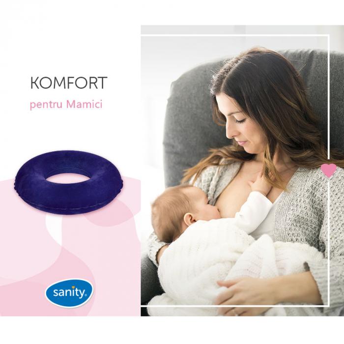 Perna-inel ortopedic pentru sezut Sanity Komfort, ideal pentru pozitii comode de alaptare si relaxarea spatelui la birou, in masina sau pe canapea [7]