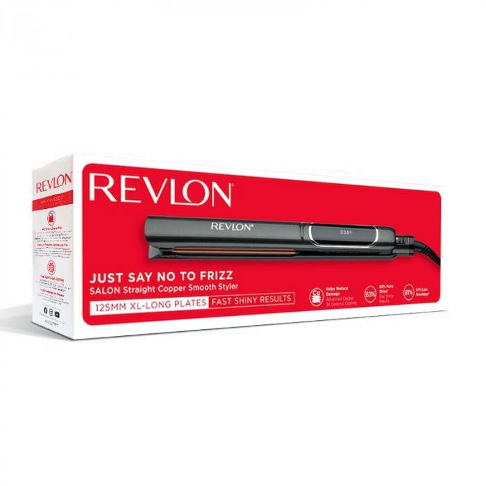 Placa de indreptat parul REVLON Salon Straight Copper Smooth Styler RVST2175E2, afisaj LCD [2]