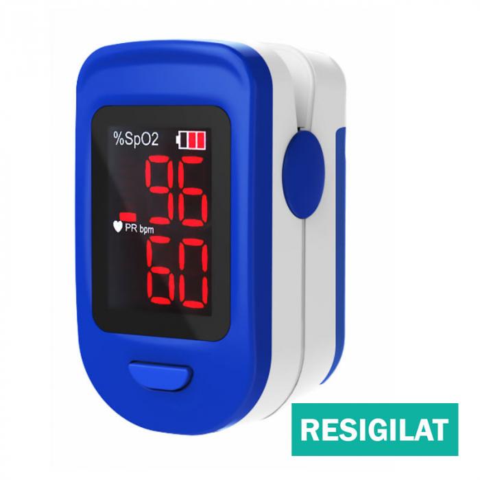 Pulsoximetru RedLine FS10C, alb-albastru, resigilat 0