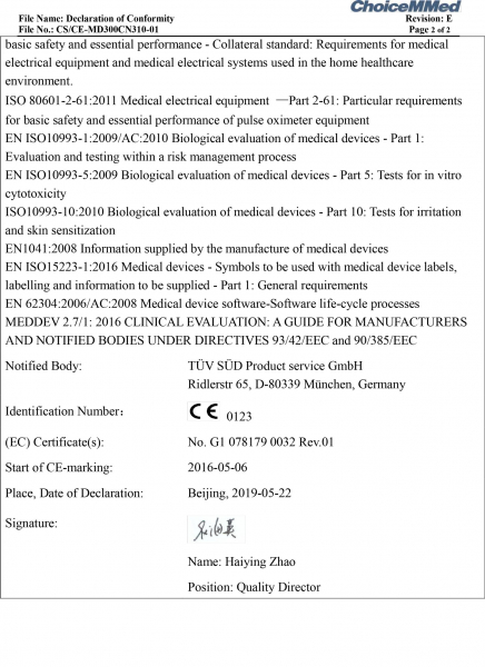 Pulsoximetru Little Doctor MD300C23, indica nivelul de saturatie a oxigenului din sange, masoara rata pulsului 9