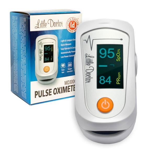 Pulsoximetru Little Doctor MD300C23, indica nivelul de saturatie a oxigenului din sange, masoara rata pulsului 3