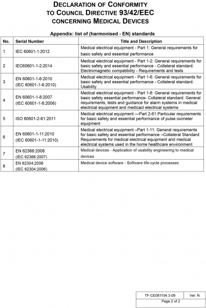 Pulsoximetru profesional Contec CMS60D, senzor adulti, pediatric si neonatal, cablu de extensie 6