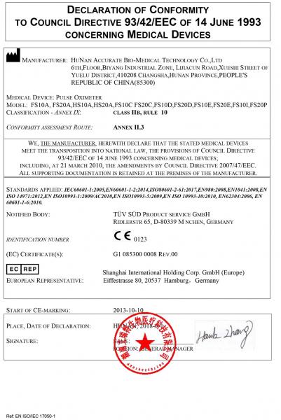 Pulsoximetru RedLine FS20C, negru,  indica nivelul de saturatie a oxigenului, masoara rata pulsului 7