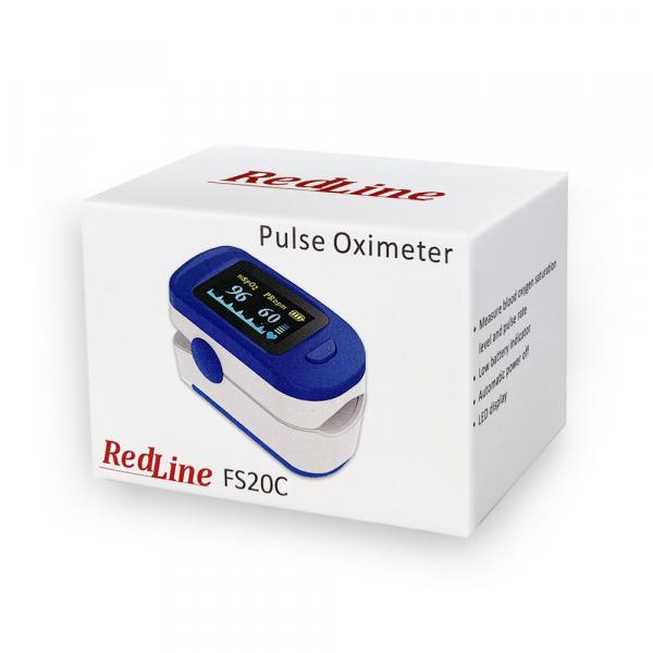 Pulsoximetru RedLine FS20C, negru,  indica nivelul de saturatie a oxigenului, masoara rata pulsului 5