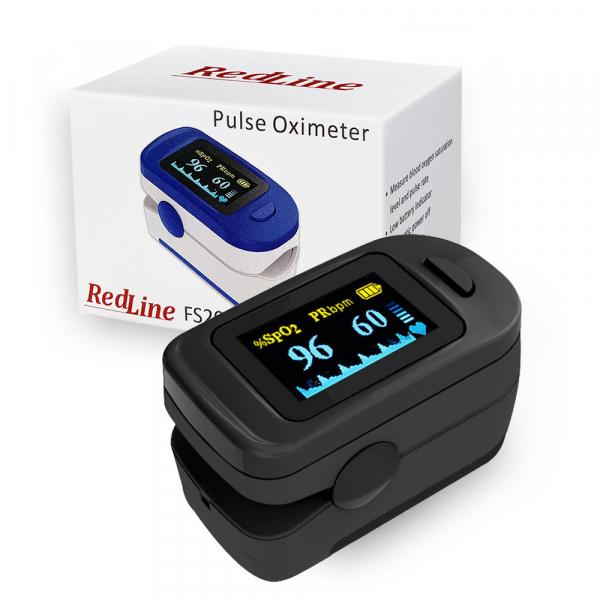 Pulsoximetru RedLine FS20C, negru,  indica nivelul de saturatie a oxigenului, masoara rata pulsului 4
