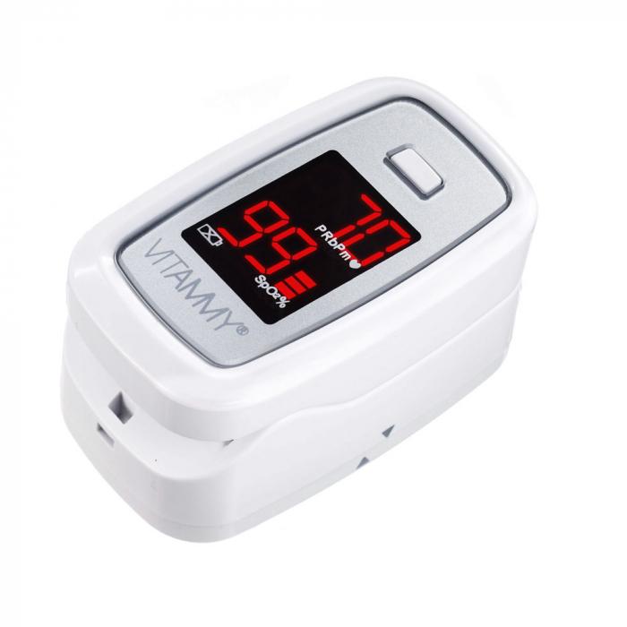 Pulsoximetru Vitammy Sat, ecran luminos, rezistent, indica nivelul de saturatie a oxigenului, masoara ritmul cardiac [0]