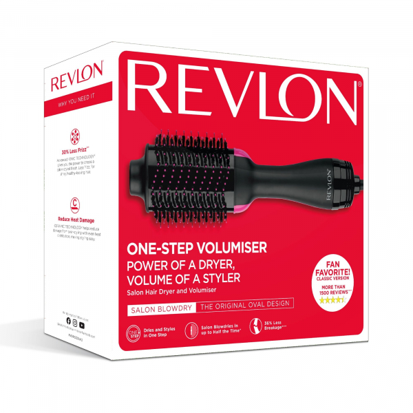 Perie electrica fixa REVLON One-Step Hair Dryer & Volumizer, RVDR5222E2, pentru par mediu si lung 1